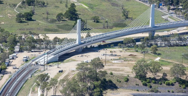 Salini Impregilo Sydney Metro_cable stayed bridge_aerial_04 approved